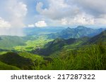 view of phu chi fa mountain at... | Shutterstock . vector #217287322