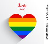 Rainbow Heart Love Logo Icon....