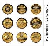 premium quality golden retro... | Shutterstock .eps vector #217288342