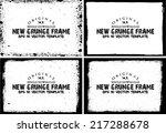 design template.abstract grunge ... | Shutterstock .eps vector #217288678