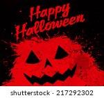 grunge halloween pumpkin... | Shutterstock .eps vector #217292302