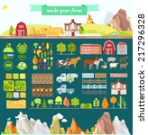 create your own farm. big set... | Shutterstock .eps vector #217296328