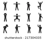 Stick Figure Posture Icons