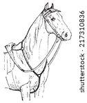horse chest  vintage engraved...   Shutterstock .eps vector #217310836