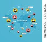 social media  network concept.... | Shutterstock .eps vector #217316566