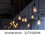 vintage lighting decor | Shutterstock . vector #217318246