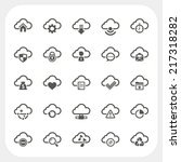 cloud icons set | Shutterstock .eps vector #217318282