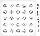 cloud icons set | Shutterstock .eps vector #217318282