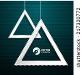 3d triangle frames. vector... | Shutterstock .eps vector #217320772