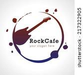 rock cafe branding logo.... | Shutterstock .eps vector #217322905