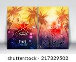 summer vacation flyer design... | Shutterstock .eps vector #217329502
