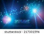 Blue Spotlight For Your Design...