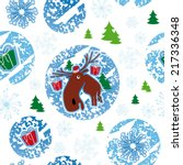seamless pattern  merry... | Shutterstock .eps vector #217336348