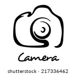 digital camera icon  symbol or... | Shutterstock .eps vector #217336462