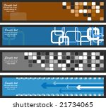 set of abstract banners   Shutterstock .eps vector #21734065