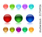 color buttons on white... | Shutterstock .eps vector #21734926