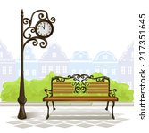 Bench  Street Clock  Old Town....