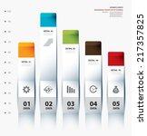 business graph chart... | Shutterstock .eps vector #217357825