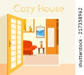 room concept. house clean vector | Shutterstock .eps vector #217358962