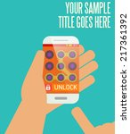 phone unlocking pattern template