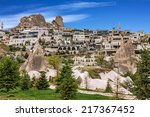 turkish fortress uchisar ... | Shutterstock . vector #217367452