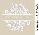 vector lace card. vintage white ... | Shutterstock .eps vector #217374466