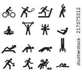 sport icons vector files. | Shutterstock .eps vector #217375312