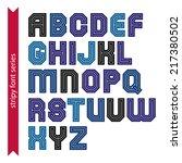 elegant striped typescript for... | Shutterstock .eps vector #217380502