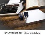 retro typewriter | Shutterstock . vector #217383322