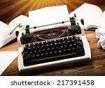 typewriter | Shutterstock . vector #217391458