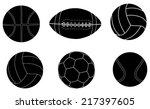 collection of  sports balls... | Shutterstock .eps vector #217397605