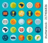 football  soccer infographic | Shutterstock .eps vector #217406836