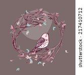 bird in wreath | Shutterstock .eps vector #217410712