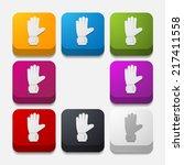 square button  gloves   Shutterstock .eps vector #217411558