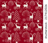 christmas and new year red... | Shutterstock .eps vector #217412026