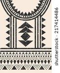 aztec tribal t shirt print in...   Shutterstock .eps vector #217414486