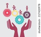 gears design over gray ... | Shutterstock .eps vector #217420978