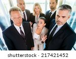 drowning in people. top view of ... | Shutterstock . vector #217421452