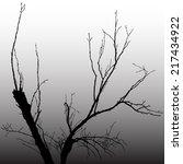 vector illustration  dark tree | Shutterstock .eps vector #217434922