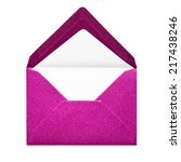Pink Envelope Isolated On Whit...