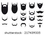 set of beard and mustache...   Shutterstock .eps vector #217439335