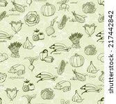kitchen seamless pattern with a ... | Shutterstock .eps vector #217442842