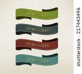 vintage elements set | Shutterstock .eps vector #217443496