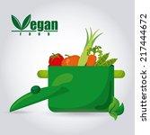 organic food label  vector... | Shutterstock .eps vector #217444672