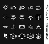 Car Indicator Icons. Vector illustration - stock vector