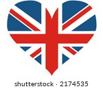 Great Britain Heart   Vector...