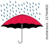 an illustration of an umbrella... | Shutterstock .eps vector #217464832