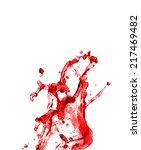 beautiful splash of red wine... | Shutterstock . vector #217469482