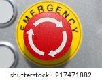 close up emergency button  | Shutterstock . vector #217471882