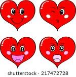 heart face   emotion   Shutterstock . vector #217472728